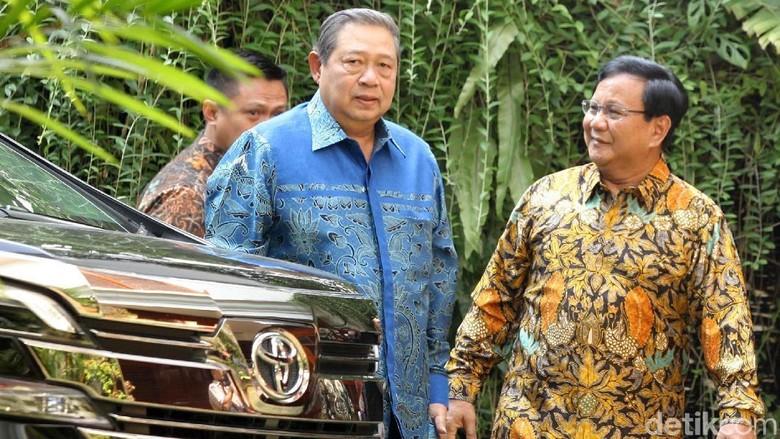 Prabowo: SBY Jadi Penasihat Tim Pemenangan