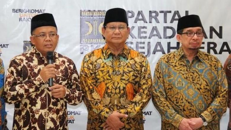 Salim Segaf dan Elite PKS Merapat ke Rumah Prabowo