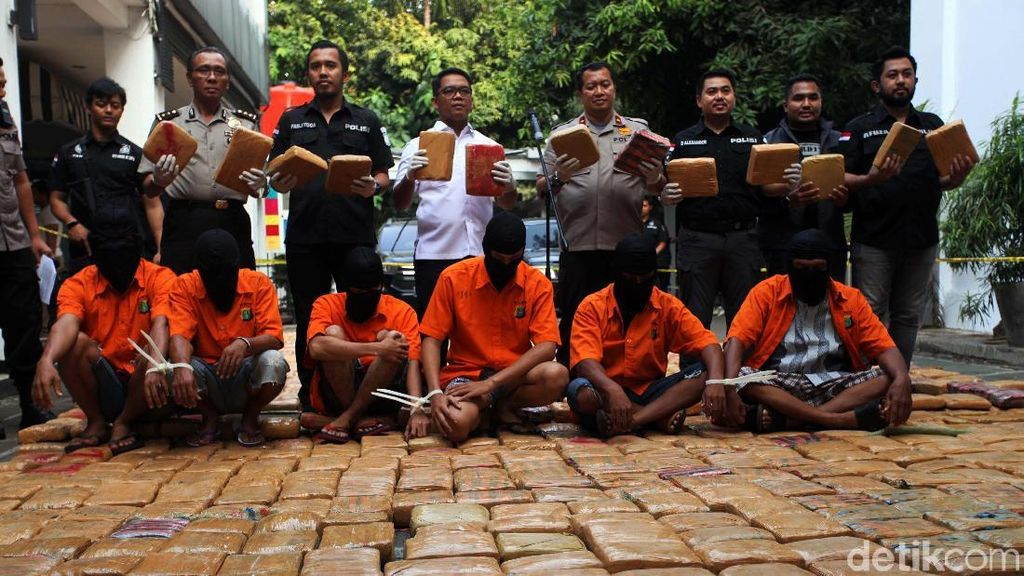 Ini 1,4 Ton Ganja Aceh yang Disita Polisi