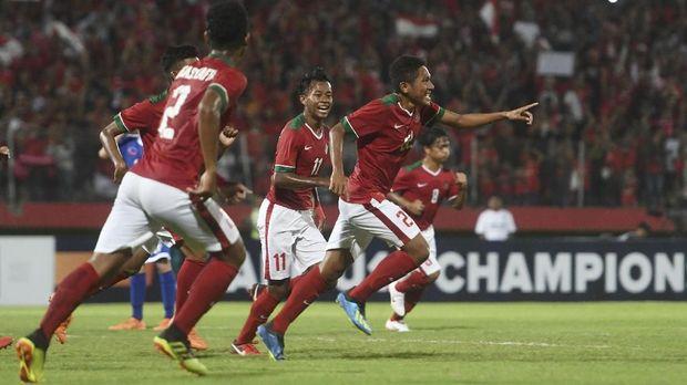 Timnas Indonesia berhasil melaju ke final Piala AFF U-16. (