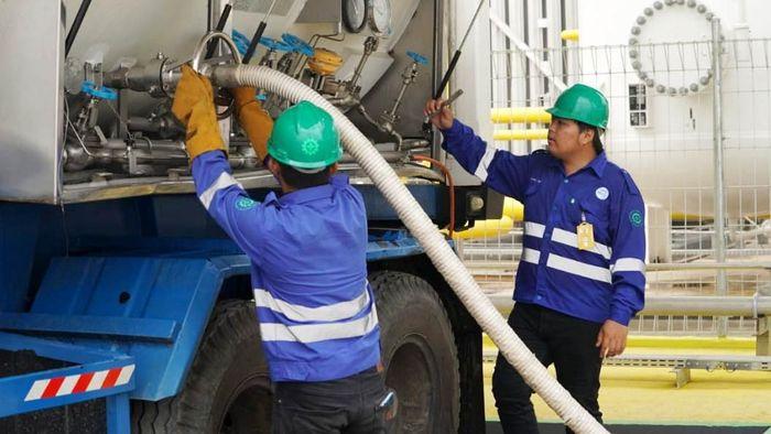 Ilustrasi pasokan gas alam cair/Foto: Istimewa/PLN