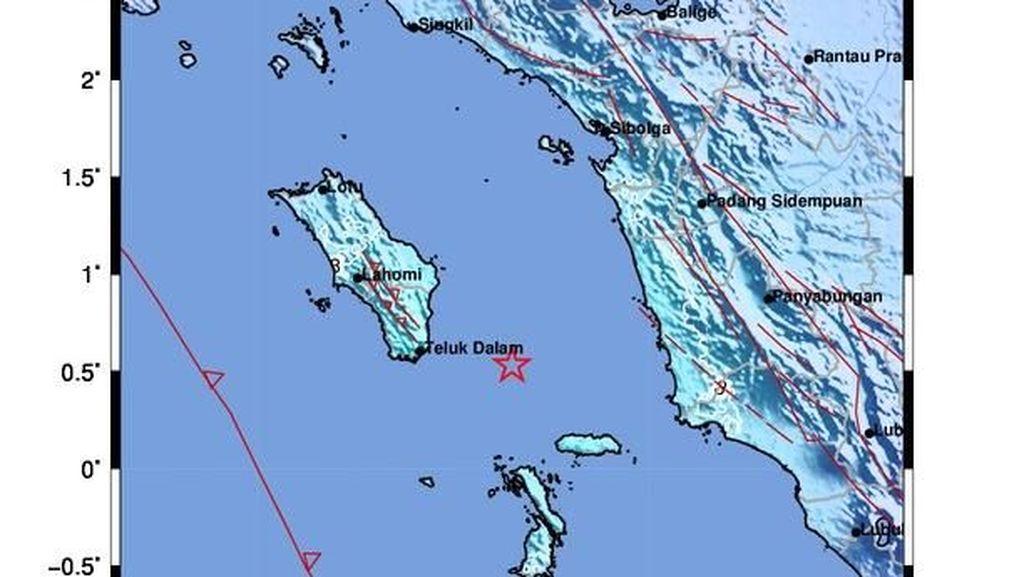 Gempa 5,3 SR Guncang Sumut