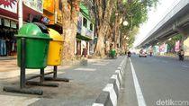 Bukan dari Jerman, Tong Sampah Lokal Berjejer Rapi di Palembang