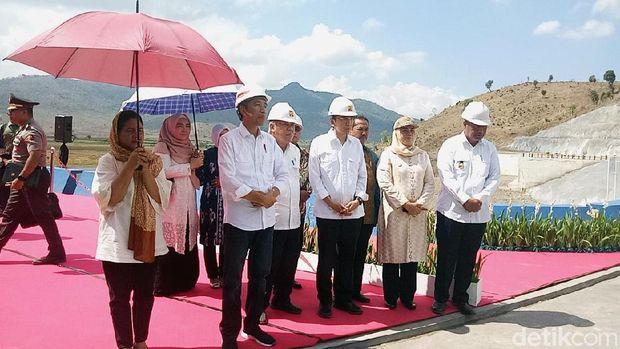 Presiden Jokowi resmikan Bendungan Tanju