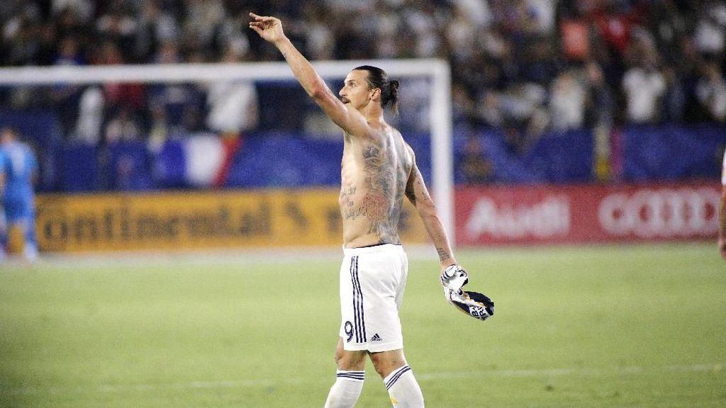 Hat-trick Pertama Zlatan Ibrahimovic di MLS