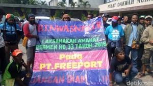Ratusan Orang Ngaku-ngaku Karyawan Freeport Gelar Aksi di Jakarta
