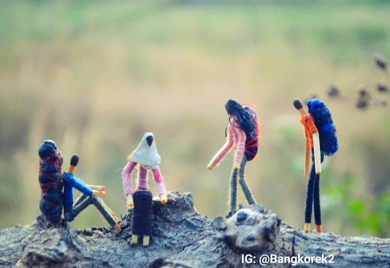 Dari Hobi Motret, Begini Cara Bang Korek Bikin Karya Miniatur Foto: Instagram/ @bangkorek2