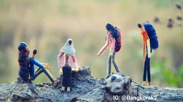 Sim salabim... Batang Korek Api Jadi Patung Miniatur Keren!