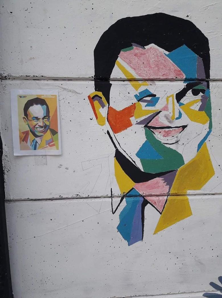 Anies Berterima Kasih Wajahnya Jadi Mural: Agak Lebar Dikit Ya