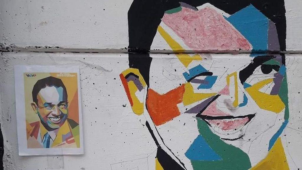 Mural Anies yang Viral Dianggap Mirip Hugo Chavez hingga Bergaya Kubisme