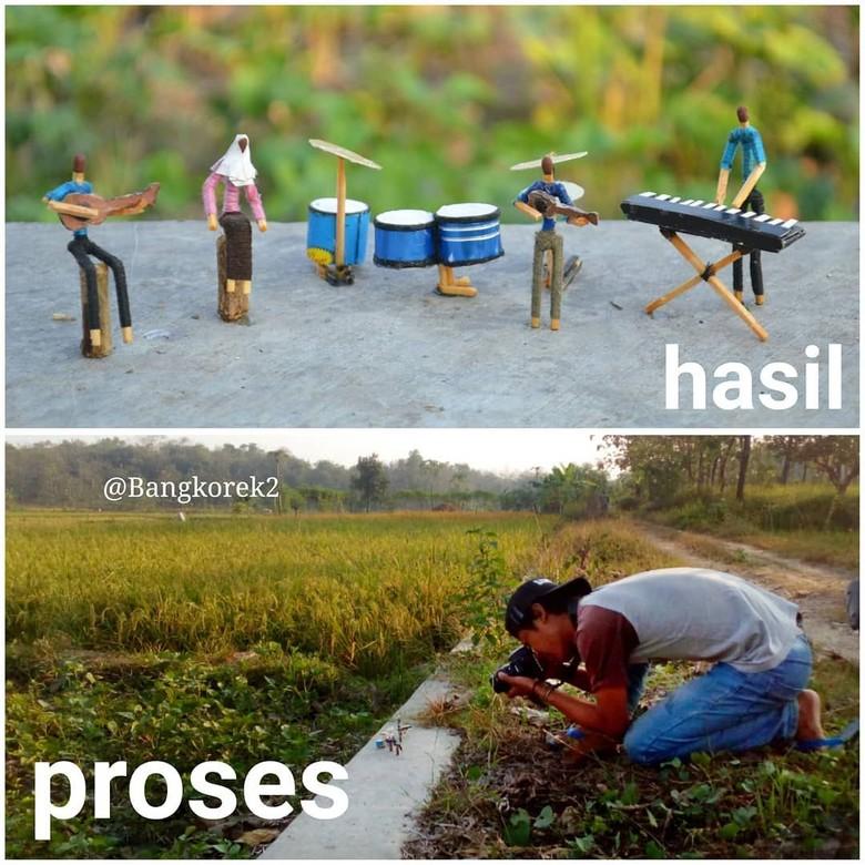 Cerita Nyeleneh Jadi Kekuatan dari Karya Kreatif Bang Korek Foto: Instagram/ @bangkorek2