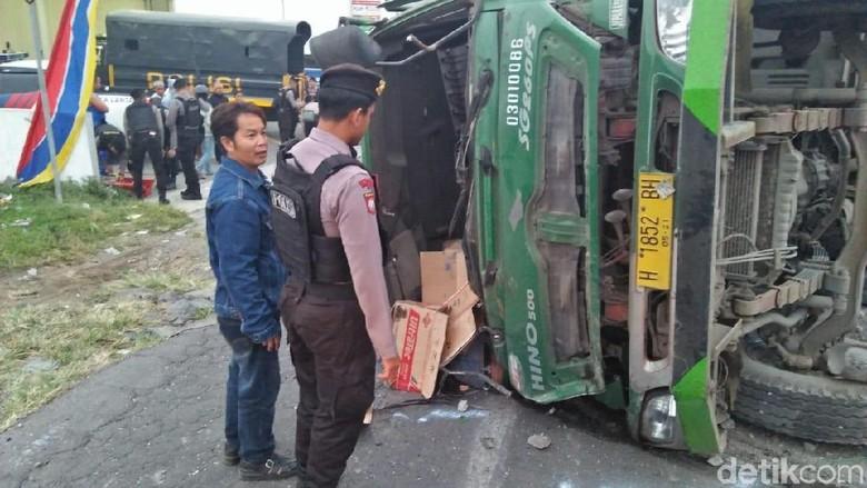 Kecelakaan truk di Wonosobo (Foto: Dok Polres Wonosobo)