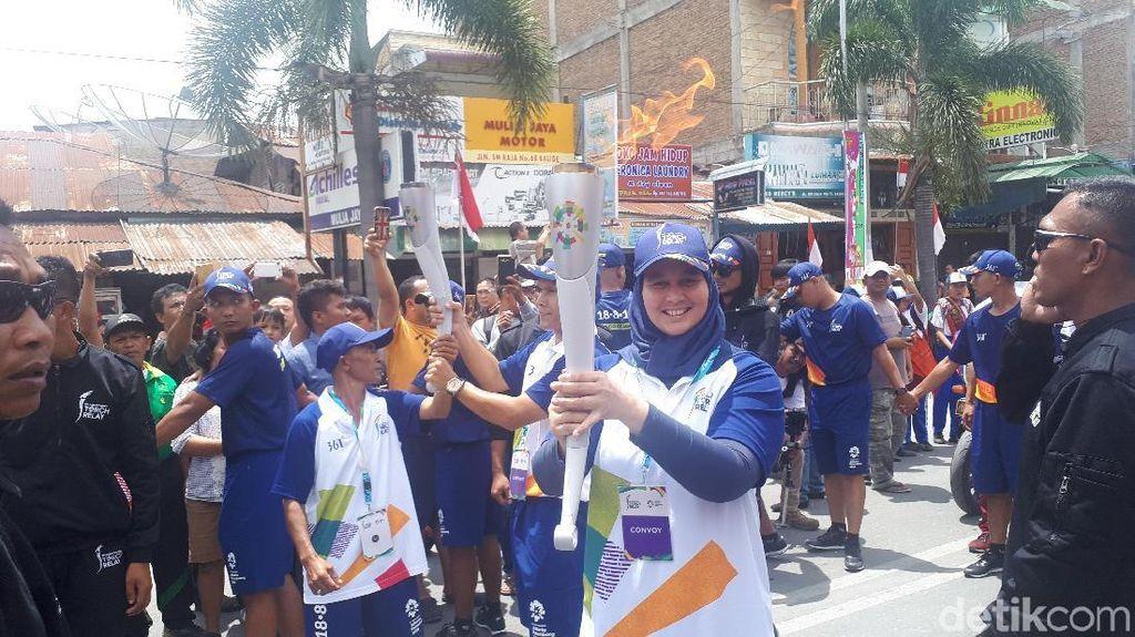 Kirab Obor Asian Games 2018 Nyalakan Gairah Olahraga dan Wisata di Sumut