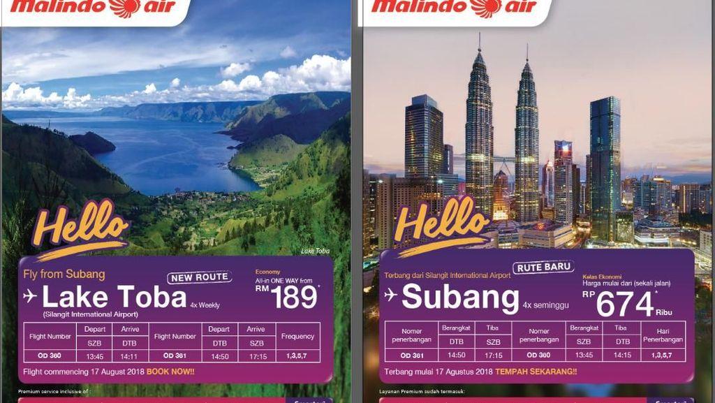 17 Agustus, Dua Maskapai Malaysia Buka Penerbangan ke Danau Toba