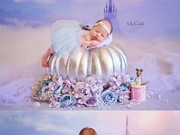 Karena umurnya sudah 1 tahun, Cinderella cilik ini udah bisa mengajak main boneka tikusnya. Hi-hi-hi. (Foto: Instagram/ @bellybeautifulportrait)