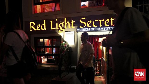 Museum prostitusi Red Light Secrets di De Wallen, Amsterdam.