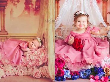 Hmm, rupanya pangeran sudah datang nih untuk mengecup Aurora kecil hingga dia bangun dari tidurnya. He-he-he. (Foto: Instagram/ @bellybeautifulportrait)