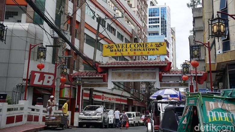 Foto: Salah satu gerbang masuk ke Chinatown Manila (Syanti/detikTravel)