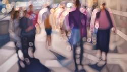 Pelukis Philip Barlow mencoba menangkap hal yang mungkin jarang diperhatikan dalam kehidupan sehari-hari. Salah satunya pemandangan dari mata penyandang rabun.