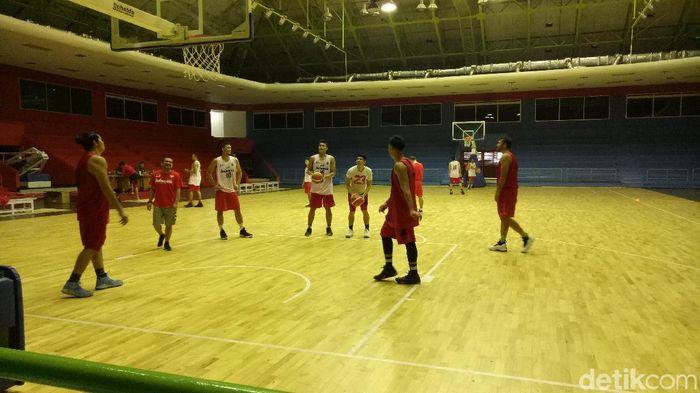 Sesi latihan Timnas Basket Indonesia jelang Asian Games 2018 (Foto: Randy Prasatya/detikSport)