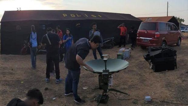 BTS Terdampak Gempa Lombok Berangsur Pulih