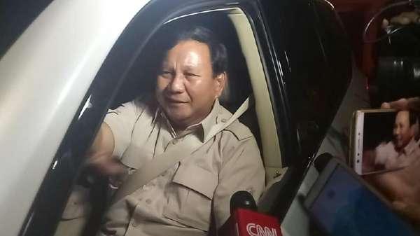 Bertemu 19 Menit, Prabowo Tinggalkan Rumah SBY
