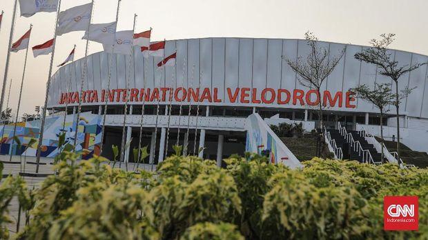 Pembangunan velodrome menghabiskan biaya lebih dari Rp650 miliar.