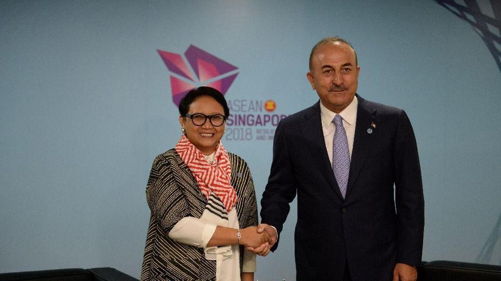 Menlu Retno: Turki Apresiasi Indonesia Konsisten Bela Palestina