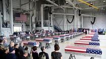 Potret 55 Peti Jasad Tentara AS dari Korut Saat Tiba di Pearl Harbor