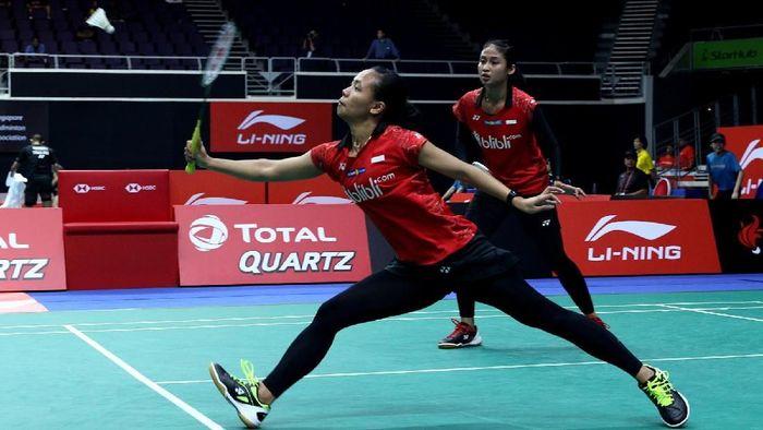 Della Destiara Haris/Rizki Amelia Pradipta lolos ke perempatfinal Kejuaraan Dunia Bulutangkis 2018 ( Foto: dok. Humas PBSI)