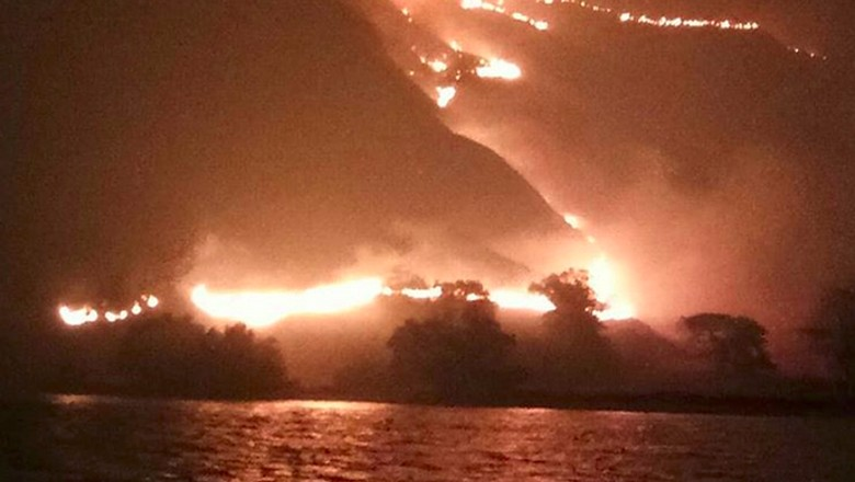 Foto: Kebakaran Gili Lawa (kurniawan_jack/Instagram)