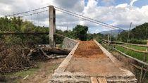 Talud Dibangun, Jembatan Mangkrak di Maros Hampir Jadi