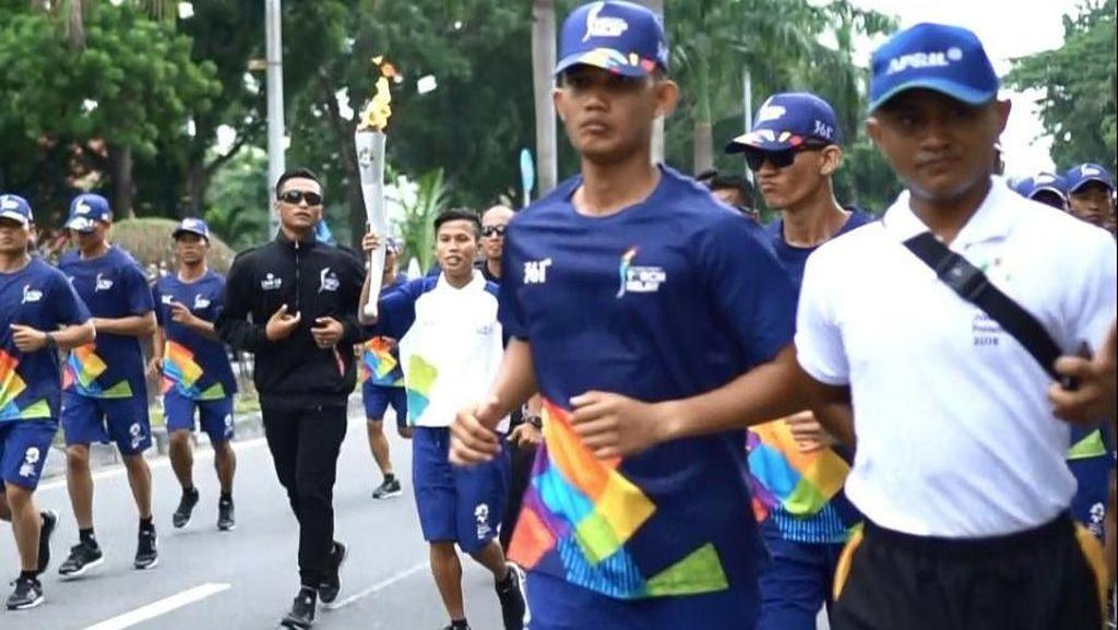 Di Pekanbaru, Obor Asian Games 2018 Dibawa Pelari Usia 20 Tahun