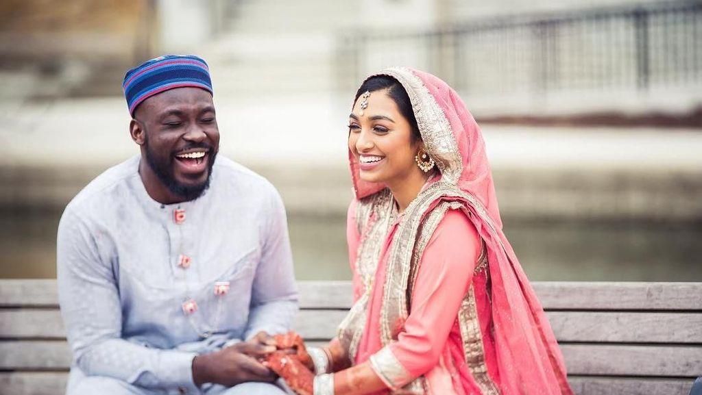 Viral, Pasangan Nikah Beda Ras yang Dibanjiri Komentar Positif