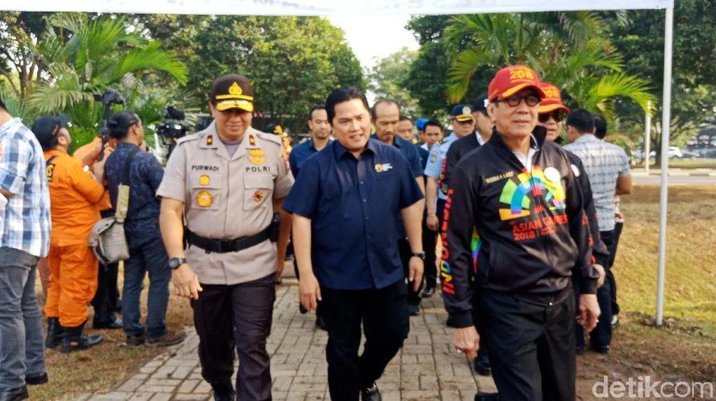 Jelang Asian Games 2018, Menkum HAM Gelar Apel di Bandara Soetta