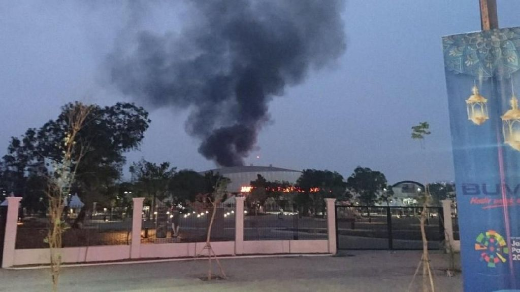 Kebakaran di Area Velodrome, Damkar: Venue Asian Games Aman