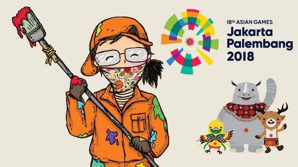 Ilustrasi Ini Sentil Pasukan Oranye yang Jadi Tukang Gambar Dadakan