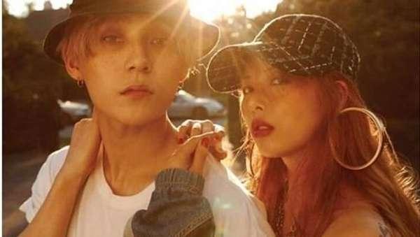 Kemesraan HyunA dan EDawn yang 2 Tahun Berpacaran