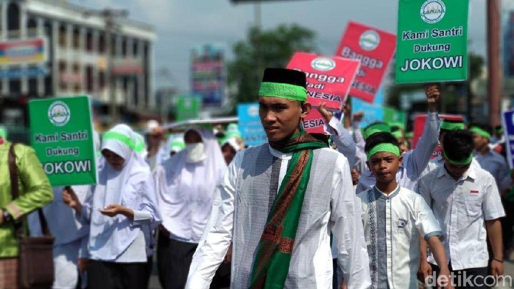 Santri di Medan Deklarasi Dukung Jokowi 2 Periode