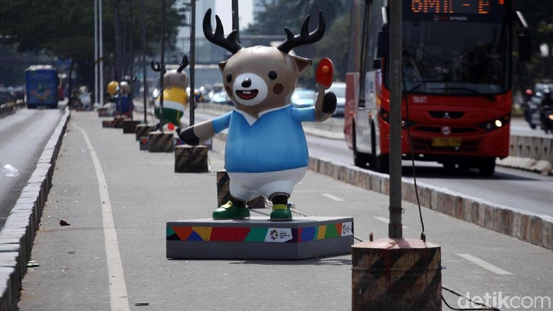 Arus Lalin Sekitar GBK Ditutup Saat Opening Ceremony Asian Games