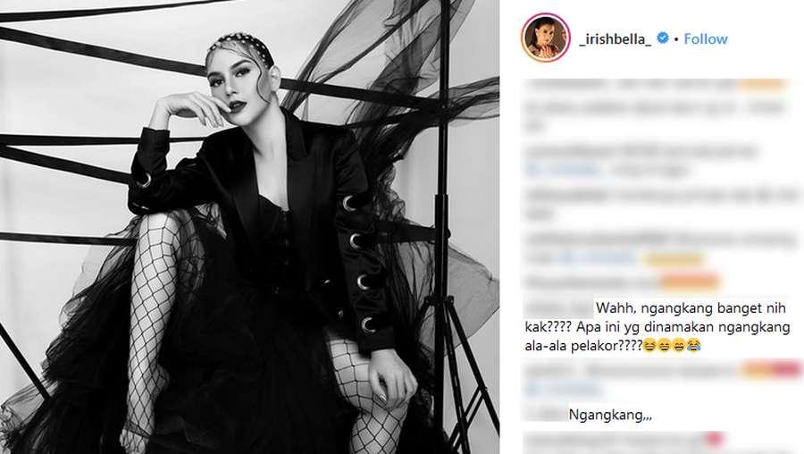 Irish Bella Pose Ngangkang, Netizen Sewot