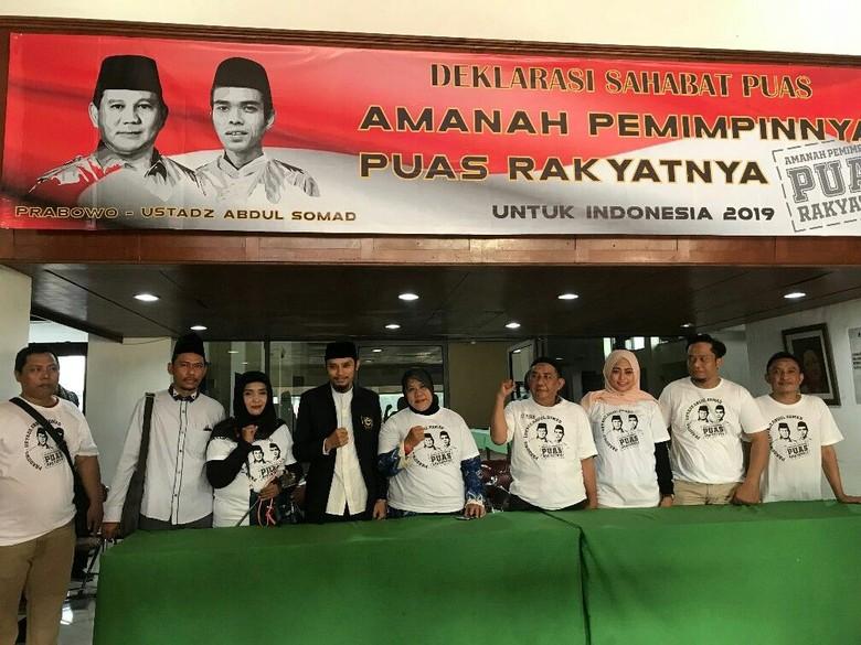 Sahabat PUAS Deklarasi Prabowo-Ustaz Somad untuk Pilpres 2019