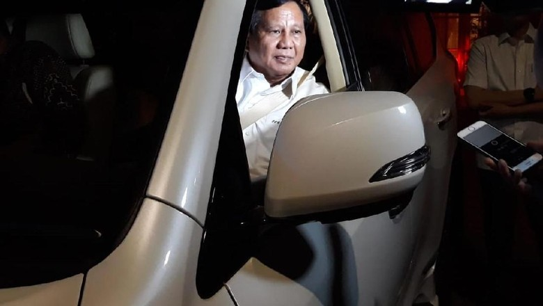 Usai Rapat, Prabowo dan Elite Gerindra Tinggalkan Kertanegara