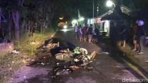 Dua Motor Bertabrakan Hingga Terbakar, 2 Bikers Tewas