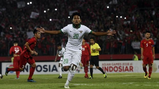 Bagus Kahfi mencetak dua gol saat melawan Timor Leste.