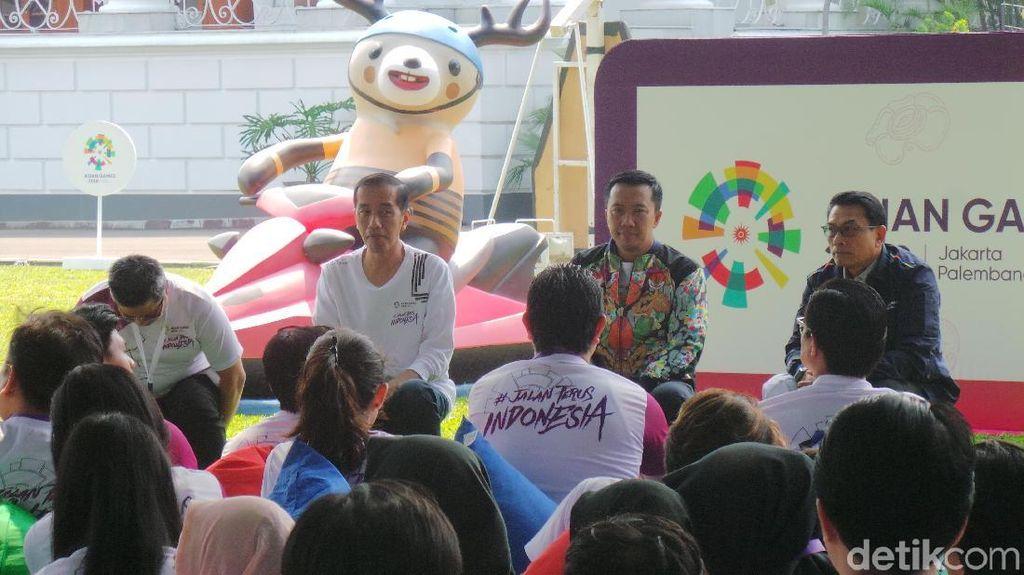 Jokowi Minta Artis hingga Netizen Terus Demamkan Asian Games