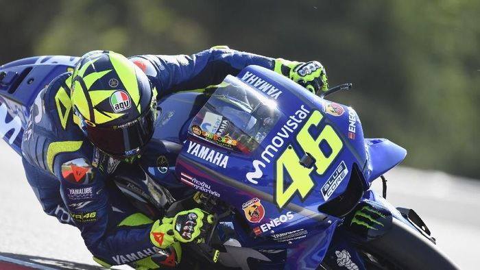 Valentino Rossi tercepat di sesi ketiga latihan bebas MotoGP Republik Ceko (Mirco Lazzari gp/Getty Images)