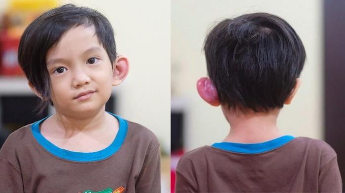 Anak dari musisi Anji, Saga Omar Nagata mengalami infeksi pada telinganya atau disebut sinus preauricular/Foto: Instagram @sagaomarnagata