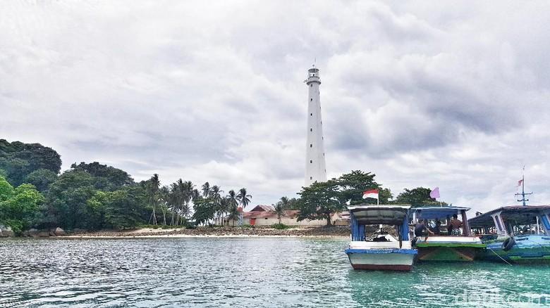 Pulau Lengkuas di Belitung (Fitraya/detikTravel)