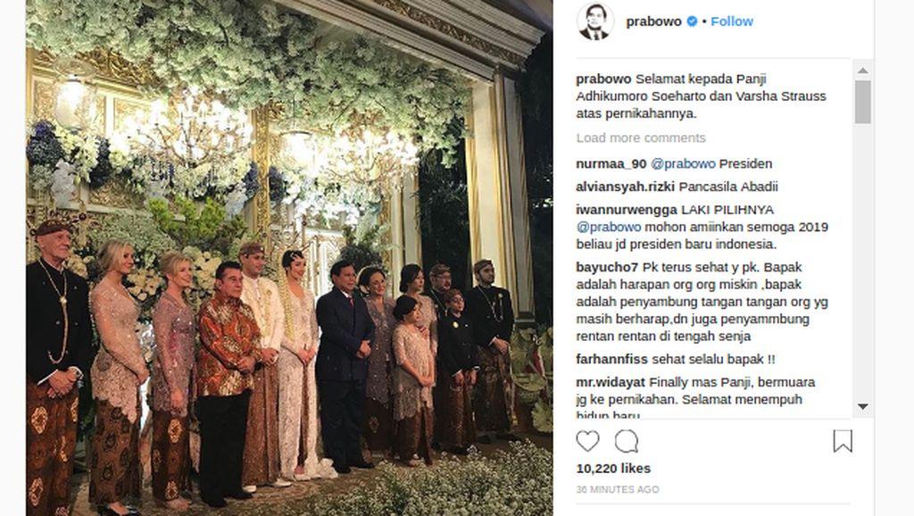 Prabowo Hadiri Pernikahan Panji Trihatmodjo